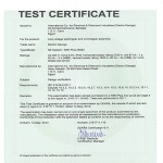 Type Test Certificate