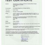 Type Test Certificate